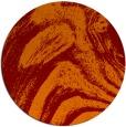 rug #965045 | round orange rug