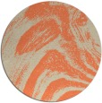 rug #965053 | round orange abstract rug