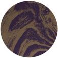 rug #965085 | round mid-brown stripes rug