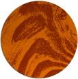 rug #965109   round red-orange stripes rug