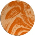 rug #965113 | round red-orange abstract rug