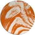 rug #965121 | round red-orange graphic rug
