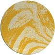 rug #965149 | round yellow abstract rug