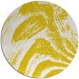 rug #965161 | round yellow graphic rug