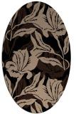 rug #96661 | oval black natural rug