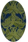 rug #96685   oval blue popular rug