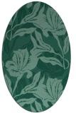 rug #96705 | oval blue-green natural rug