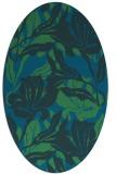 rug #96729 | oval blue-green natural rug