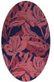 rug #96741 | oval pink popular rug