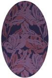 rug #96745   oval purple natural rug