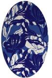 rug #96753 | oval blue-violet rug