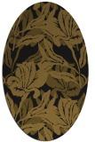 rug #96765 | oval mid-brown natural rug