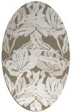 rug #96789 | oval white rug