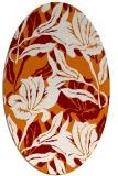 rug #96841 | oval orange natural rug