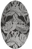 rug #96849 | oval orange natural rug