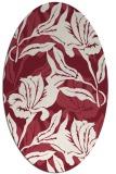 rug #96861 | oval pink natural rug
