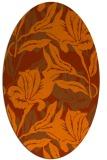 rug #96905   oval red-orange rug