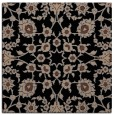 rug #969181 | square black damask rug