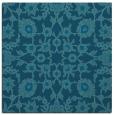 rug #969217 | square blue-green damask rug
