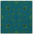 rug #969233 | square blue-green damask rug