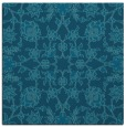 rug #969237 | square blue-green damask rug