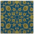 rug #969245 | square blue-green traditional rug