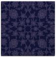 rug #969253 | square blue-violet damask rug
