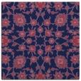 rug #969261 | square blue-violet damask rug