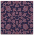 rug #969265 | square purple damask rug