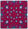 rug #969285 | square red traditional rug