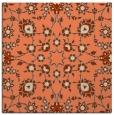 rug #969373 | square orange damask rug