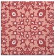 rug #969393 | square pink damask rug