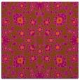rug #969437 | square red-orange damask rug