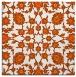 rug #969441 | square red-orange damask rug