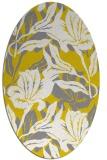 rug #96949 | oval yellow natural rug