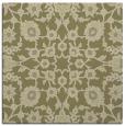 rug #969497 | square light-green damask rug