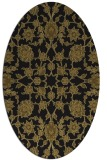 rug #969545 | oval black traditional rug