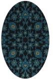 rug #969553 | oval black traditional rug
