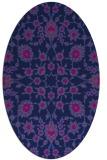 rug #969561 | oval pink natural rug