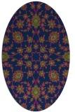 rug #969569 | oval green traditional rug