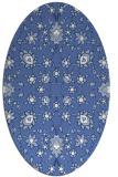 rug #969573   oval blue damask rug