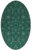 rug #969581 | oval blue-green natural rug