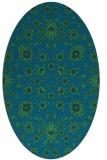 rug #969593 | oval blue damask rug