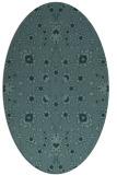 rug #969601 | oval blue-green natural rug