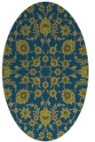 rug #969605 | oval green damask rug