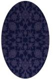rug #969613 | oval blue-violet traditional rug