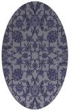 rug #969617 | oval blue-violet traditional rug