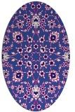 rug #969629   oval blue-violet rug