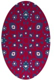 rug #969645 | oval red traditional rug