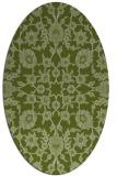 rug #969653 | oval green traditional rug